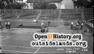 Kezar Tennis Court,1926