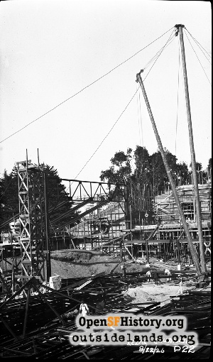 Kezar Pavilion Construction,1926