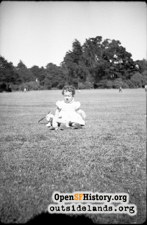 Girl with bunny, Golden Gate Park