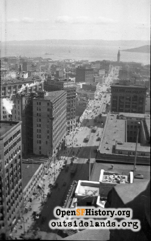 View E from Call Building,1910s