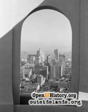 View S from Coit Tower,1933