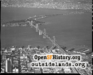 Bay Bridge Aerial,1951