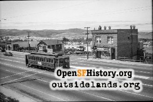Mission St, Daly City,1946