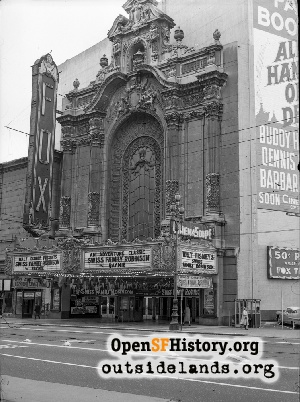 Fox Theatre Front Facade,1961