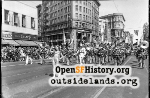 Parade at Market & Mason,1946