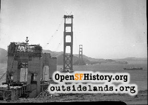 Golden Gate Bridge,Aug 1935