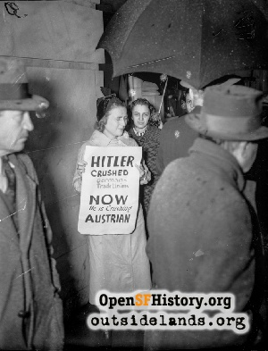 German Consulate Picket,1938