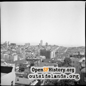View E to Russian Hill,1955