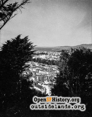 View NW from Buena Vista Park,1948