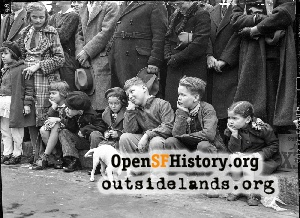 Kids Watching Parade,1938