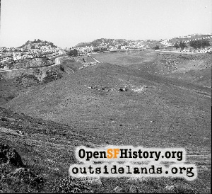 View from Gold Mine Hill,Apr 1957
