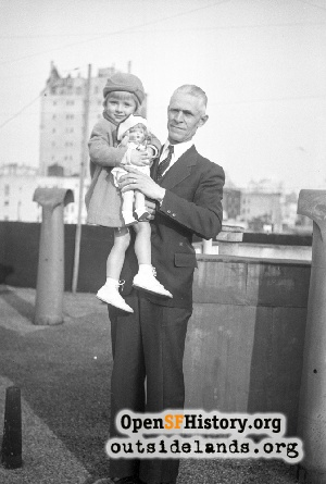 Man & girl on roof,1920s