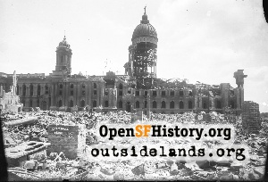 Old City Hall in Ruins