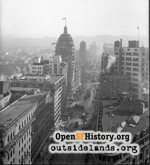 View from Hobart Building,1920