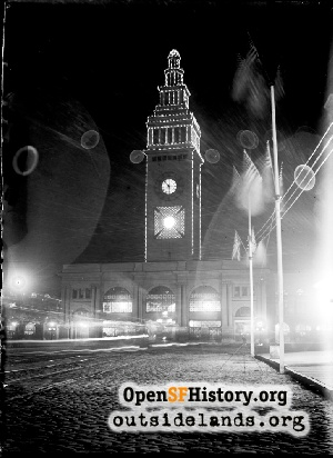 Ferry Building at night,1904