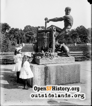 Apple Cider Press Statue,1900