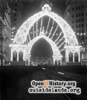GAR Arch at Night,1902c