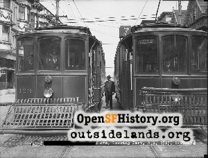 Streetcars at Haight & Masonic
