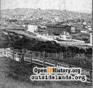 California Street Hill (Nob Hill) from Orphan Asylum