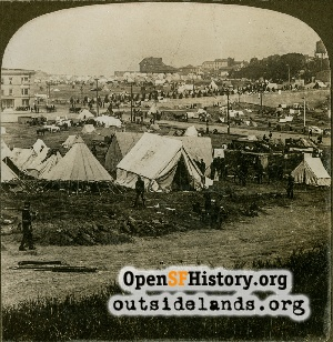 Fort Mason & Refugee tents,1906