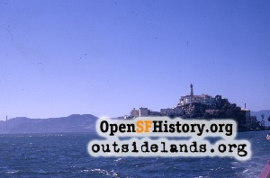 Alcatraz Island south end,Oct 1968