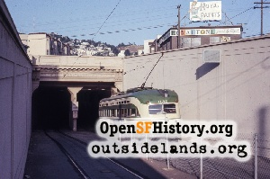 Twin Peaks Tunnel,May 1966