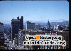 View SW from Nob Hill,1940s