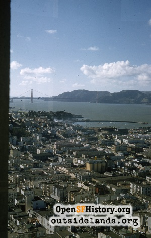 View W from Coit Tower,Mar 1958