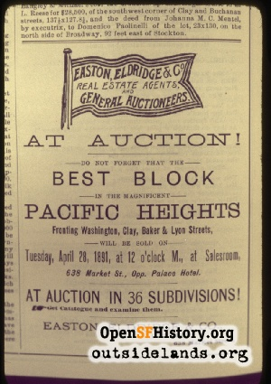 Real Estate Ad,1891