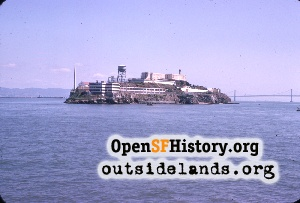 Alcatraz island, north end
