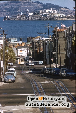 Hyde Street looking to Alcatraz
