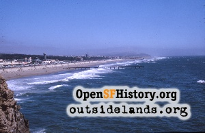 Ocean Beach from Cliff House,Aug 1963