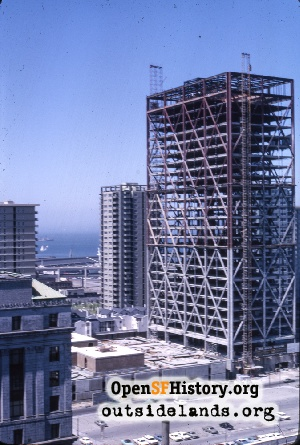 Alcoa Building under construction