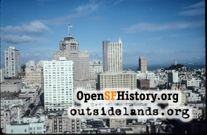 View N toward Nob Hill,Oct 1977