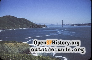 View SE from Point Bonita,Apr 1958