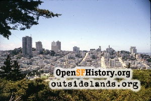 View W from Telegraph Hill,Jul 1963