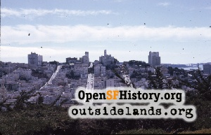 View W from Telegraph Hill,Jul 1970