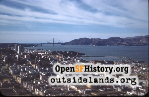 View W from Coit Tower,Mar 1959