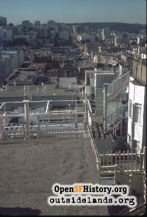 View from Russian Hill,Nov 1975