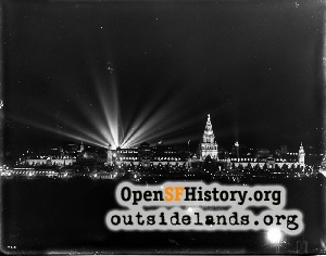 Panama-Pacific International Exposition at Night