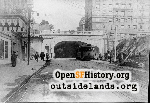 Stockton Street Tunnel,1915