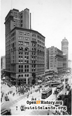 Market at Kearny street,1925