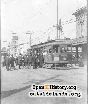 Haight and Stanyan streetcar