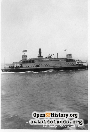 Ferry on SF Bay,1925