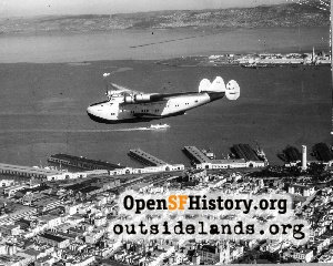 China Clipper over SF,1939