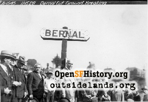 Bernal Cut Ground-Breaking,1928