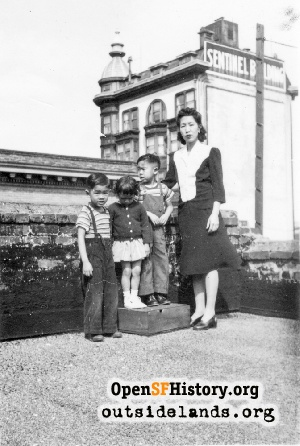 Chinese family on rooftop