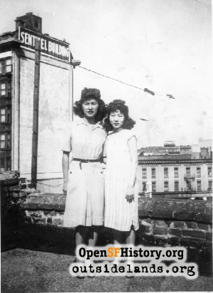 Chinese women on rooftop