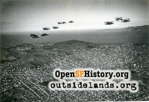 Planes over Bernal Hts,1935