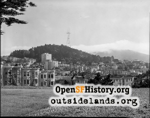 View SW from Alamo Square,1973